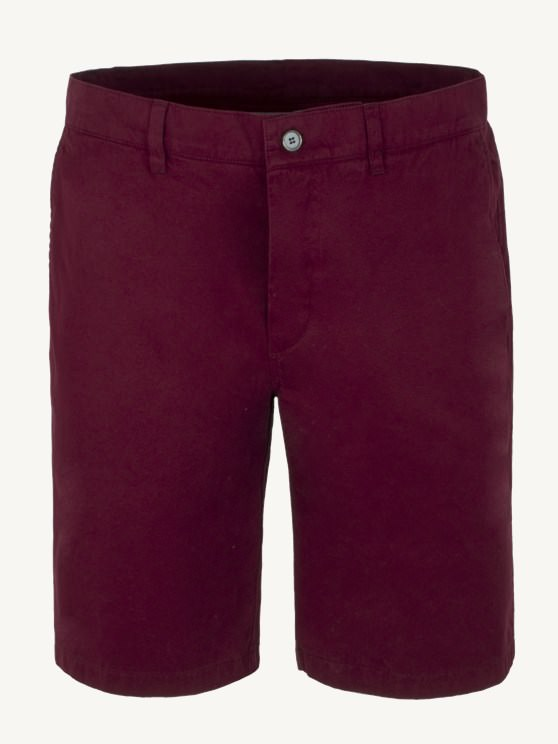 Burgundy Cotton Shorts