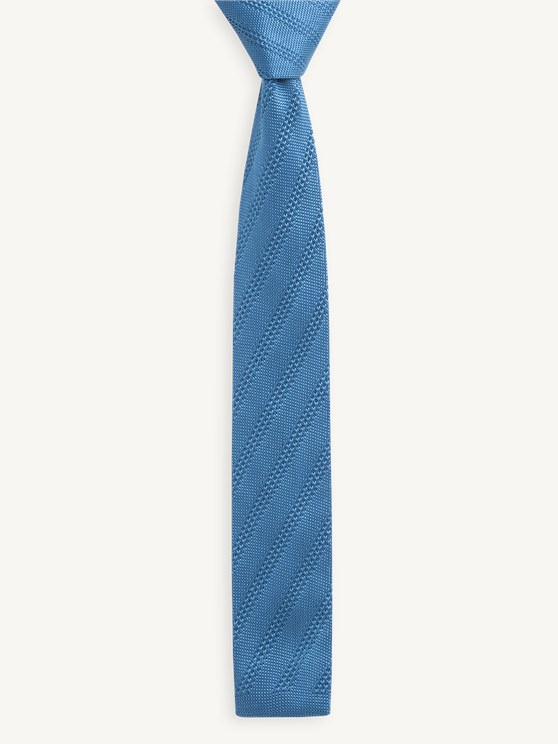 Teal Diagonal Knitted Tie