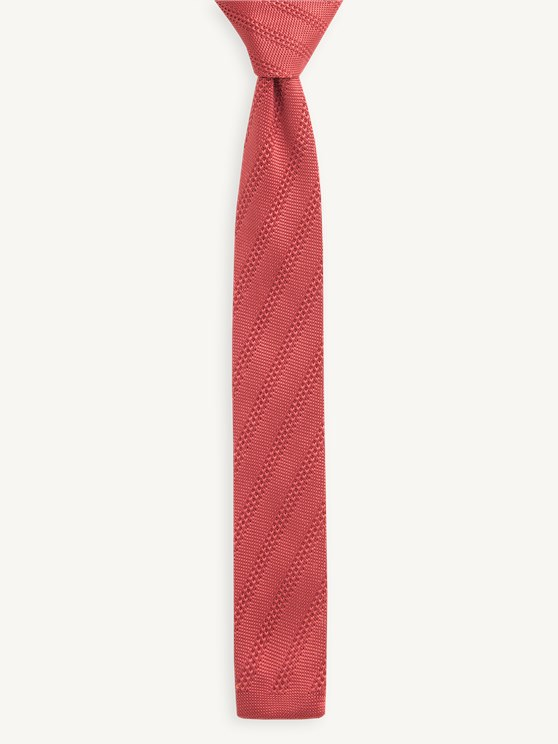 Terracotta Diagonal Knitted Tie