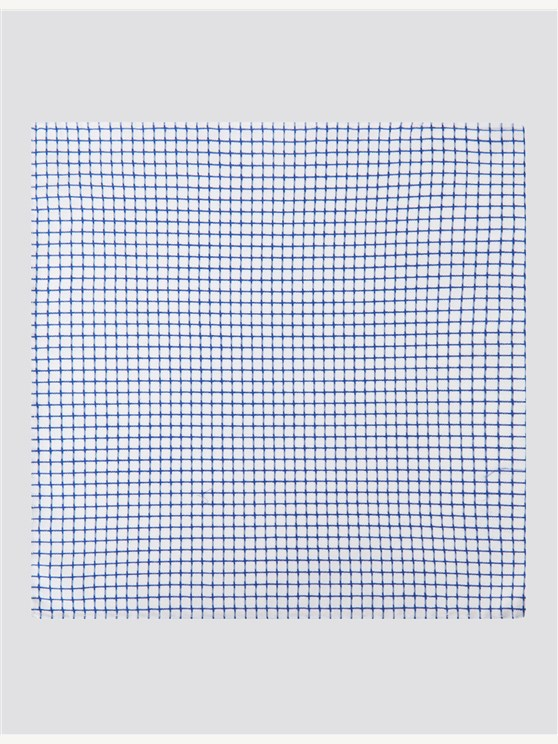 White And Navy Check Cotton Hankie