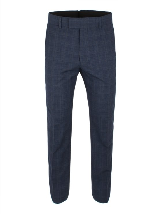 Blue Check Wool Blend Suit Trouser- currently unavailable