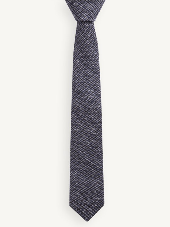 Blue Puppytooth Check Tie- currently unavailable