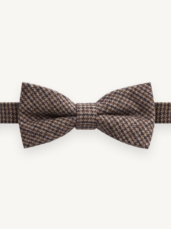 Brown Puppytooth Check Bow Tie- currently unavailable