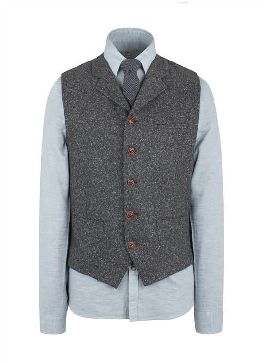 Grey Donegal Fleck Waistcoat- currently unavailable