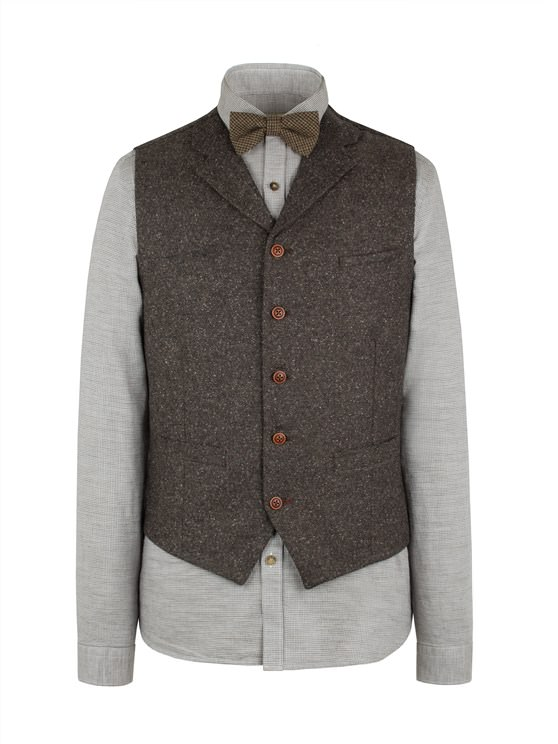 Taupe Donegal Fleck Waistcoat