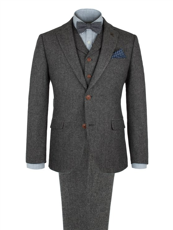 Grey Herringbone Fleck Jacket