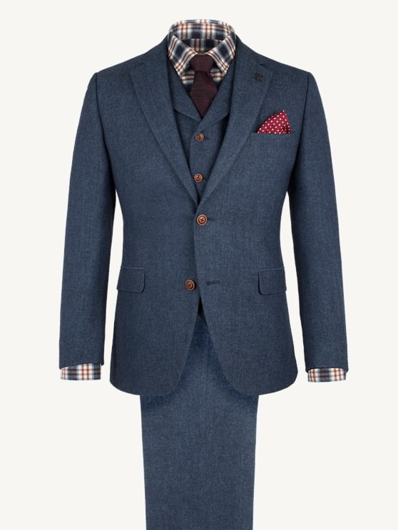 Blue Herringbone Fleck Jacket- currently unavailable