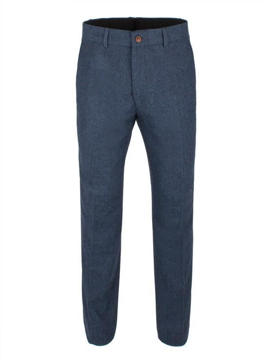 Blue Herringbone Trouser- currently unavailable