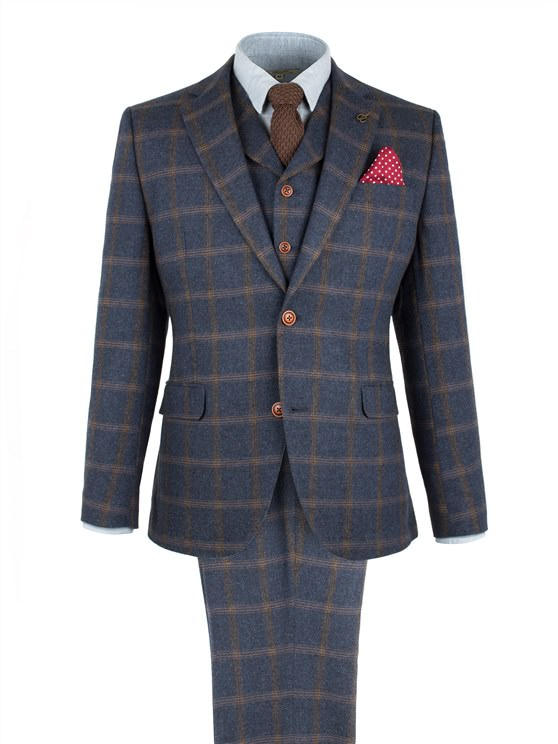 Navy And Tan Check Jacket- currently unavailable