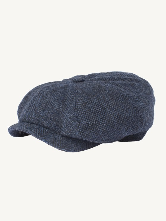 Dark Blue Contrast Tweed Hat- currently unavailable