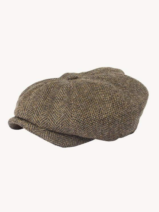 Dark Gold Contrast Tweed Hat