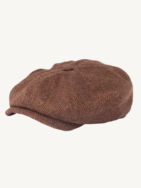 Rust Contrast Tweed Hat- currently unavailable