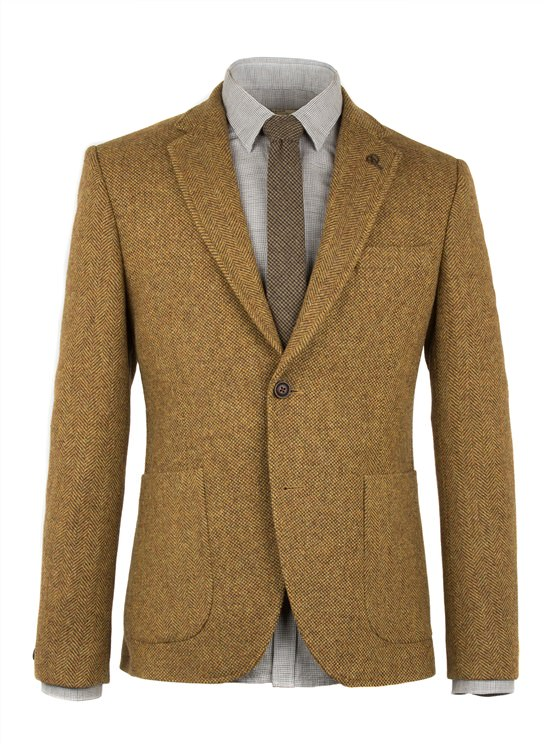 Gold Contrast Herringbone Jacket- currently unavailable