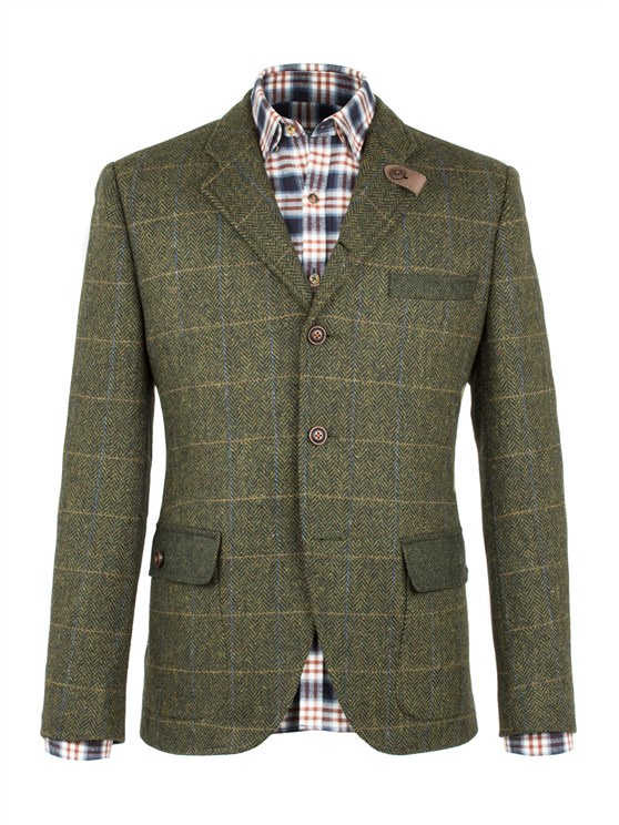 Green Herringbone Check Jacket- currently unavailable