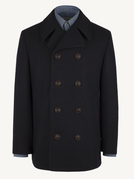 Navy Double Breasted Melton Coat- currently unavailable
