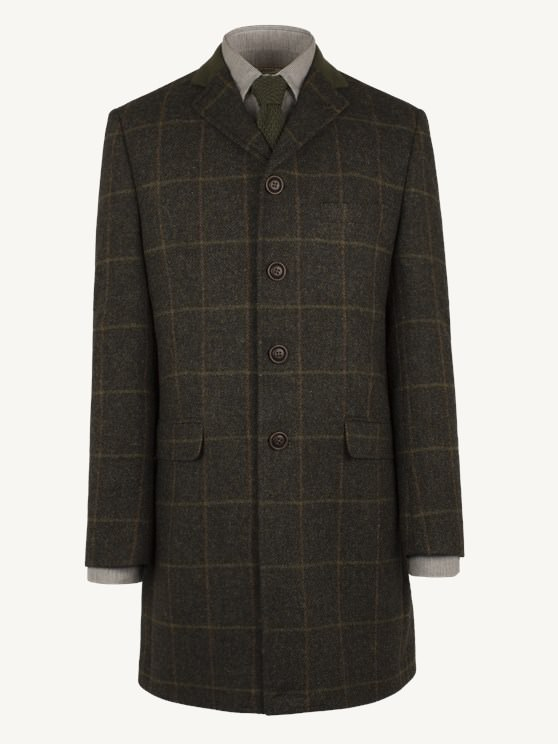 Brown Check Long Jacket- currently unavailable