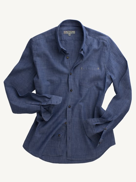 Denim Style Long Sleeved Shirt