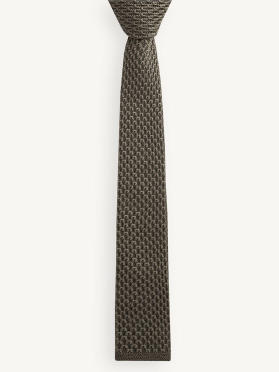 Olive Knitted Tie- currently unavailable