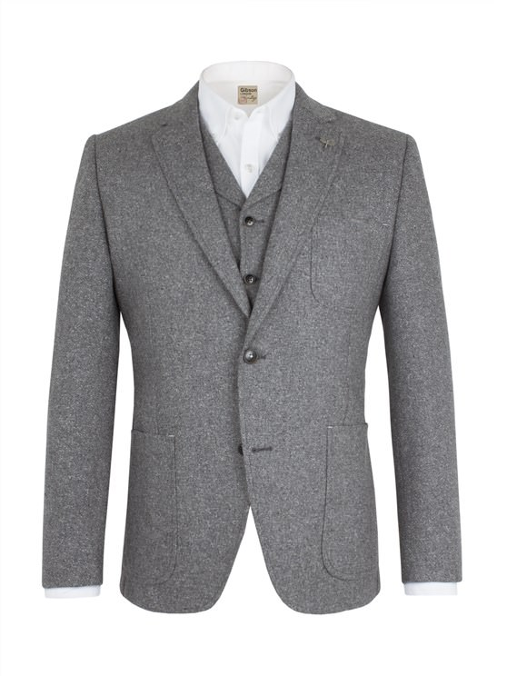 Grey Donegal Jacket
