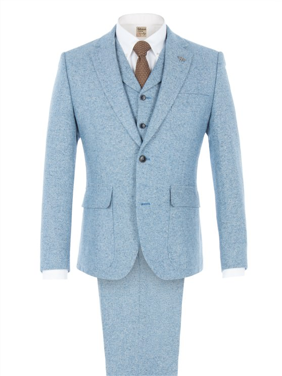 Blue Contrast Donegal Jacket