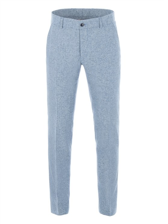 Blue Contrast Donegal Trousers