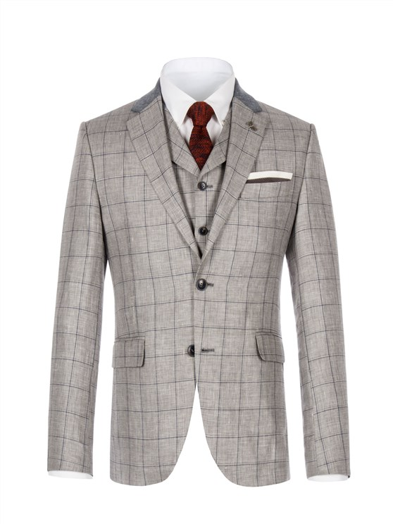 Grey Windowpane Check Jacket- currently unavailable