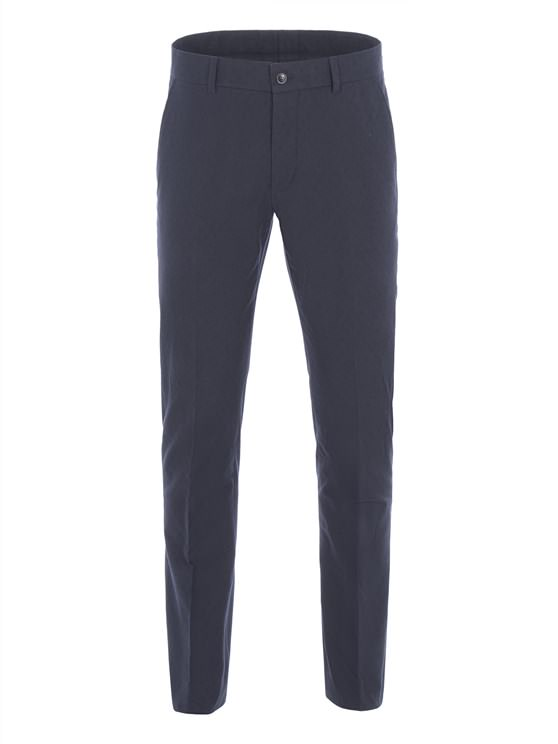 Navy Spot Jacquard Trousers