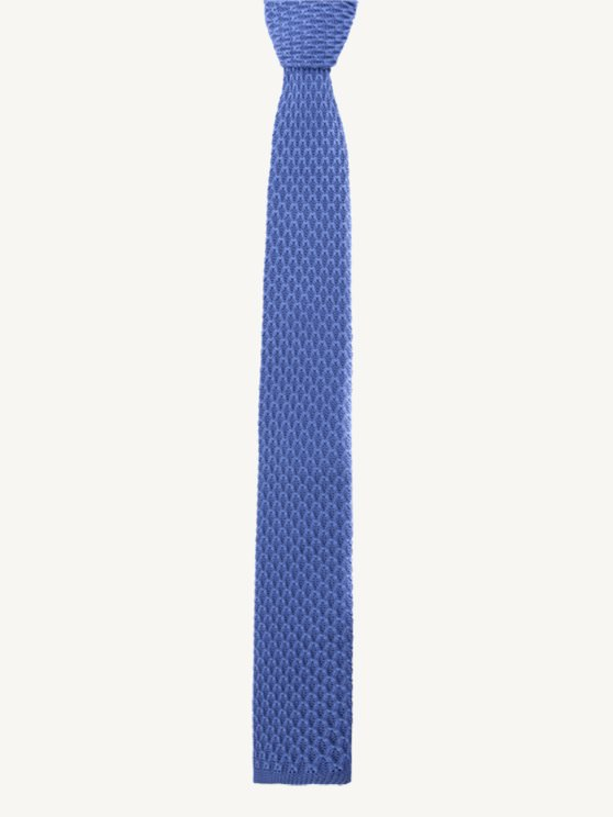 Sky Blue Knitted Tie- currently unavailable