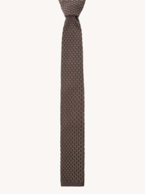 Camel Knitted Tie- currently unavailable