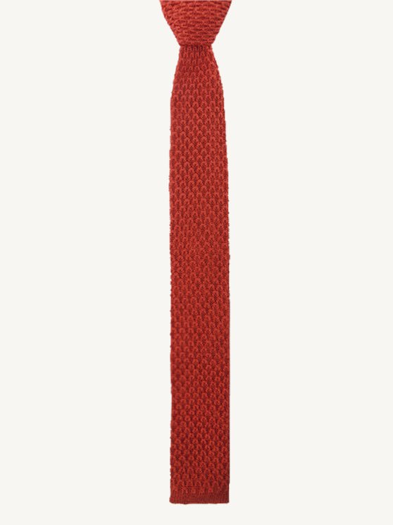 Burnt Orange Knitted Tie- currently unavailable
