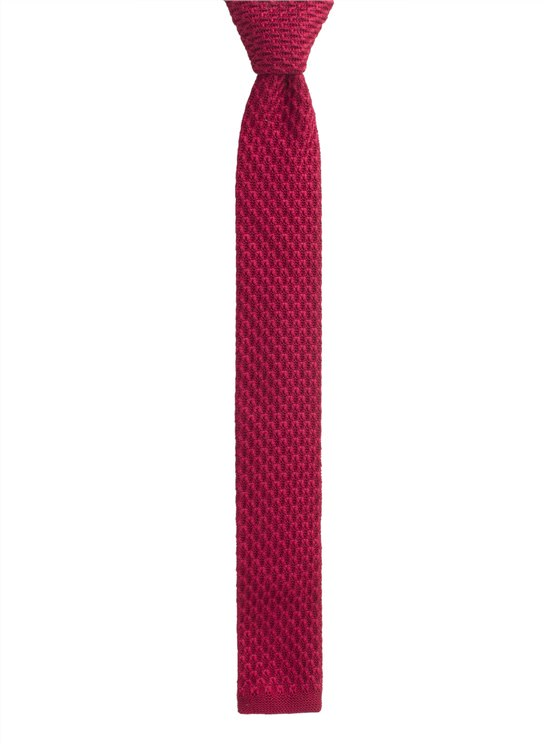 Red Knitted Tie- currently unavailable