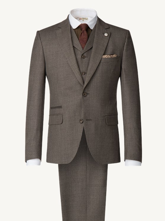 Taupe Muted check Jacket