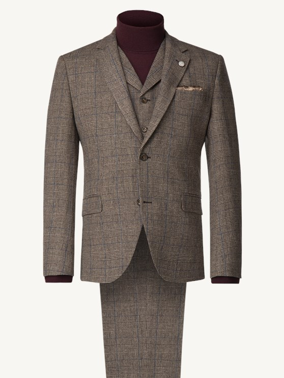Fawn Prince of Wales Check Jacket
