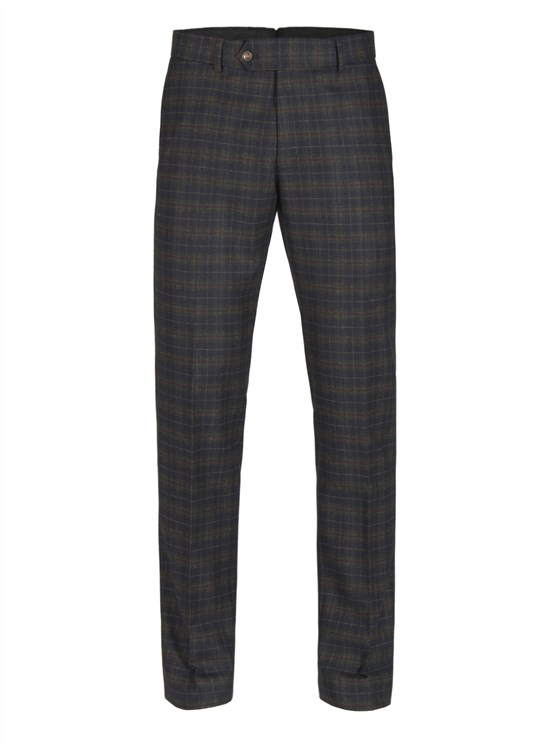 Green and Red Soft Check Trouser