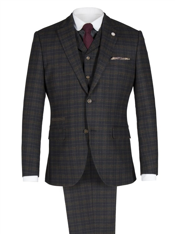 Green and Red Soft Check Jacket