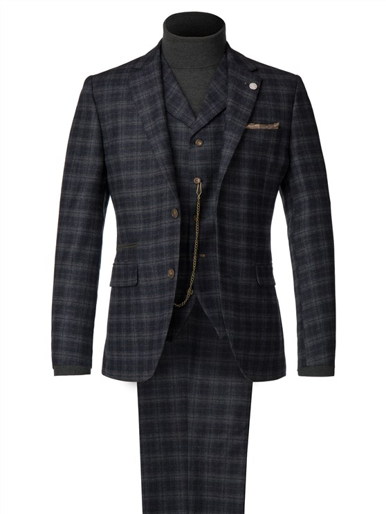 Blue and orange soft check jacket- currently unavailable
