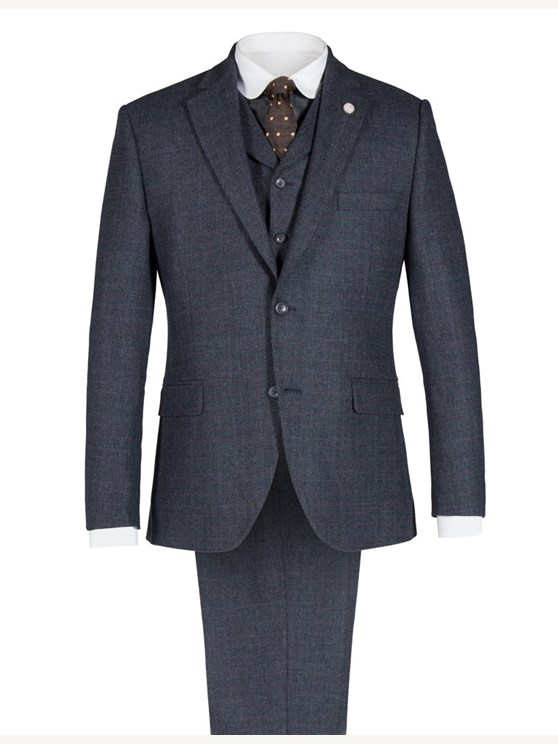 Navy Prince of Wales Check Jacket