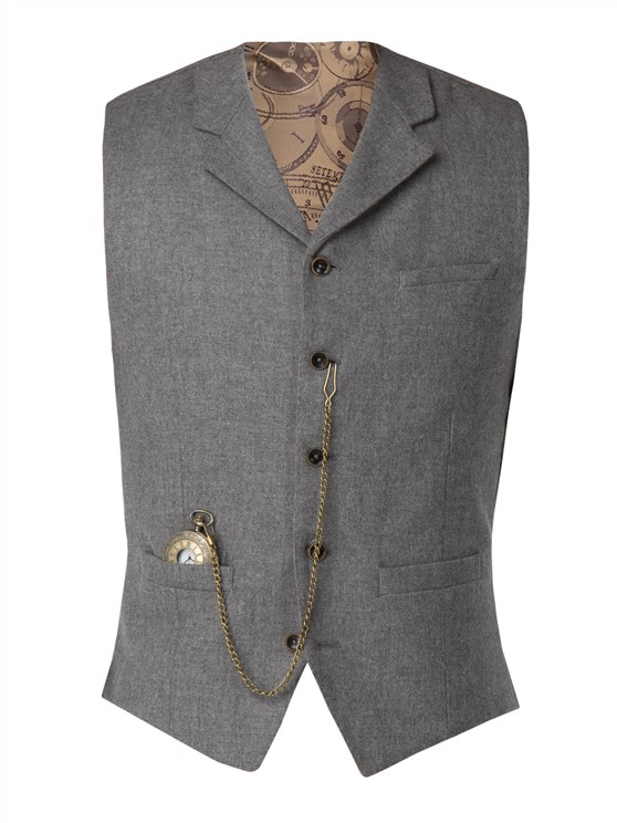 Light grey wool blend waistcoat- currently unavailable