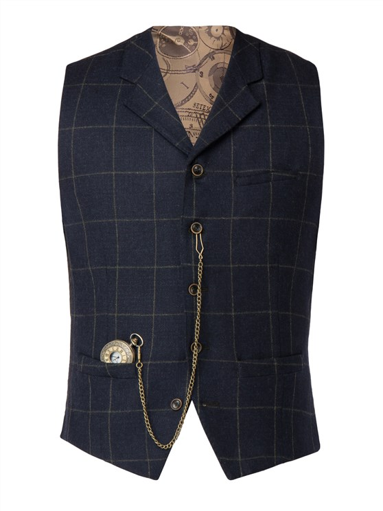 Green wool blend waistcoat- currently unavailable