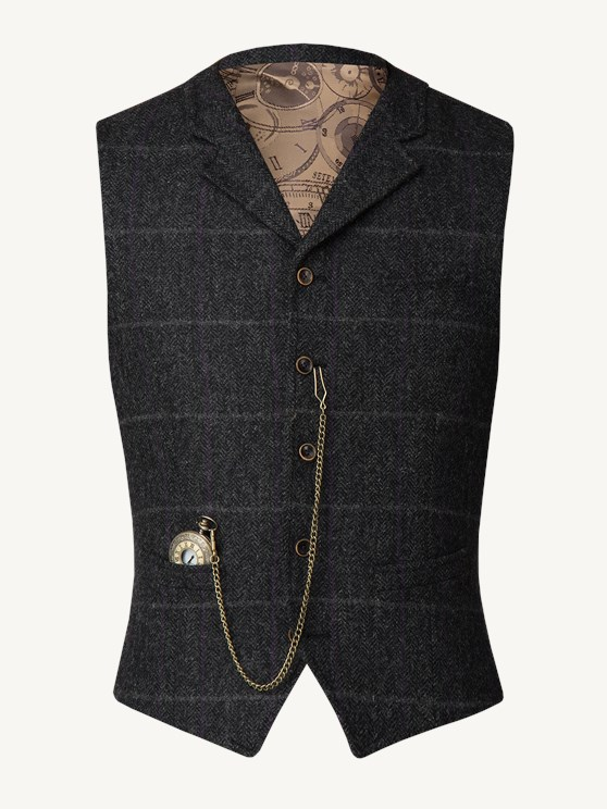 Charcoal tweed waistcoat- currently unavailable