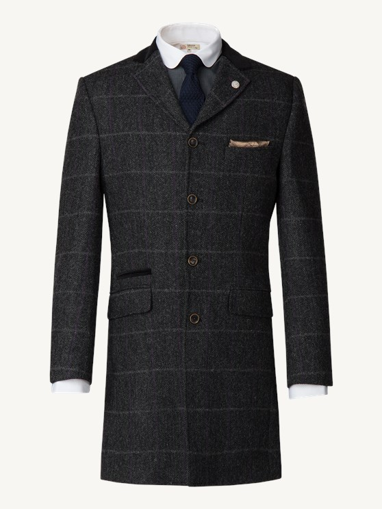 Charcoal Check Tweed Coat- currently unavailable