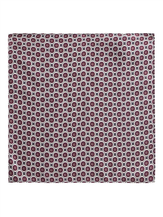 Burgundy Geometric Print Hankie- currently unavailable