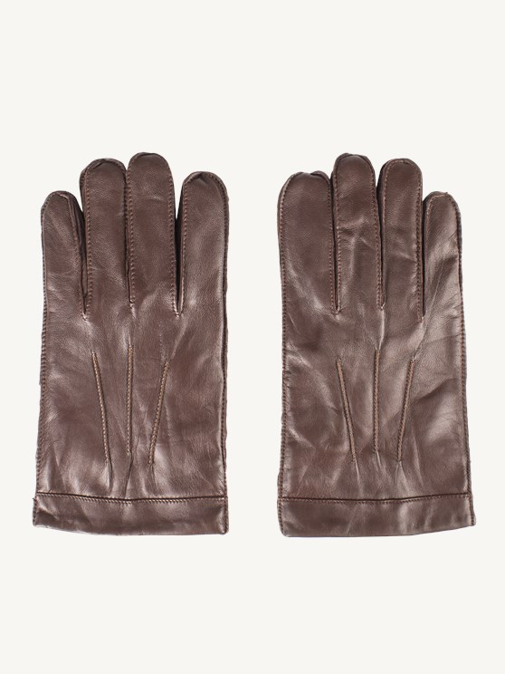 Cognac Leather Gloves