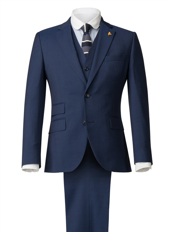 Bright Blue Diamond Effect Suit