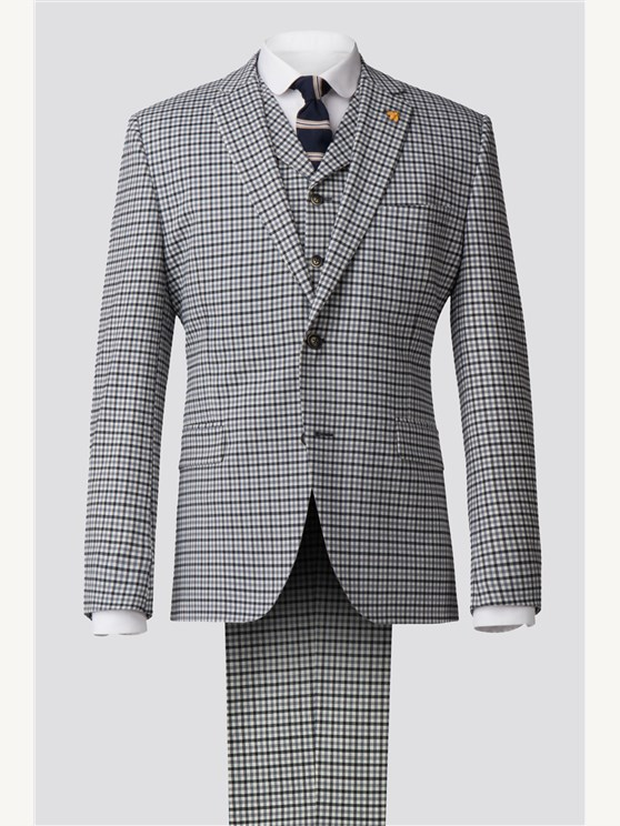 Grey Gingham Check Jacket