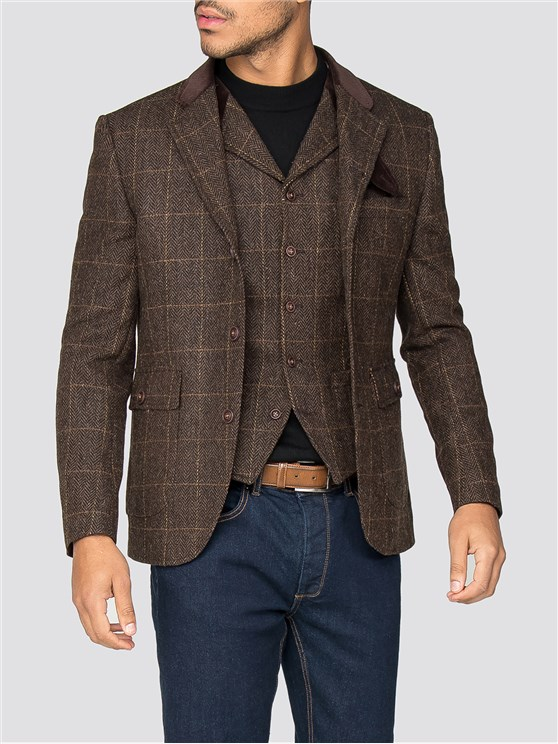 Soho Brown Check Grouse Jacket