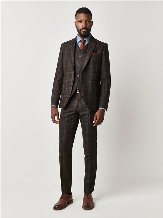 Oxford Marquee Green Tartan Check Suit