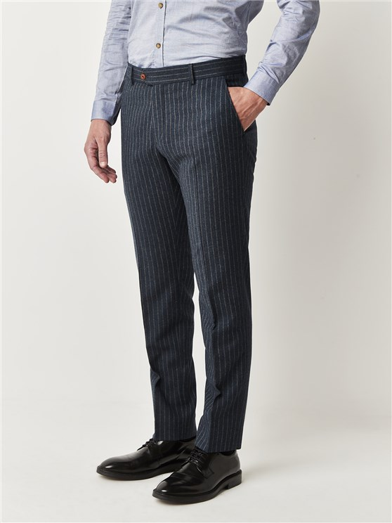 Blue Stripe Trousers