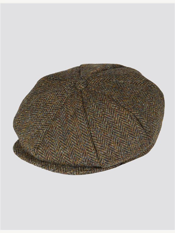 Green Tweed Bakerboy Hat