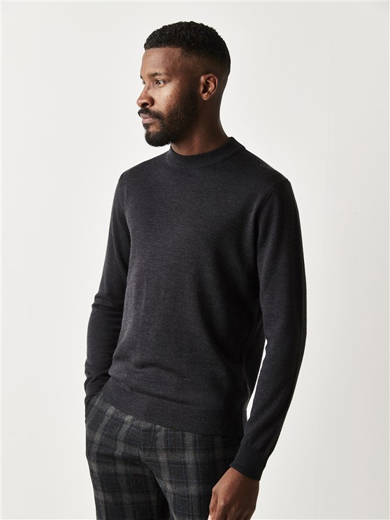 Charcoal Turtle Neck Jumper